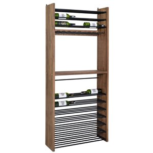 LH Imports Vino Wine Rack - 30.91-in - Brown