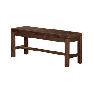 LH Imports Alfresco Bench - 44-in - Smokey Brown