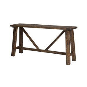 LH Imports Alfresco Console Table - 59-in - Smokey Brown