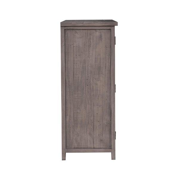 LH Imports Fergus Wine Storage Cabinet - 37.5-in Grey