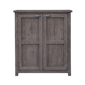 LH Imports Fergus Wine Storage Cabinet - 37.5-in Grey