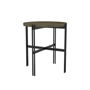 LH Imports Levi Side Table - 17.7 -in - Grey
