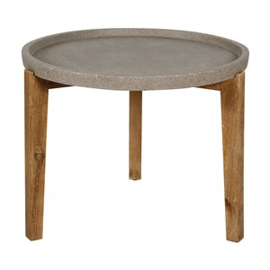 LH Imports Round Patio and Garden Table - Small
