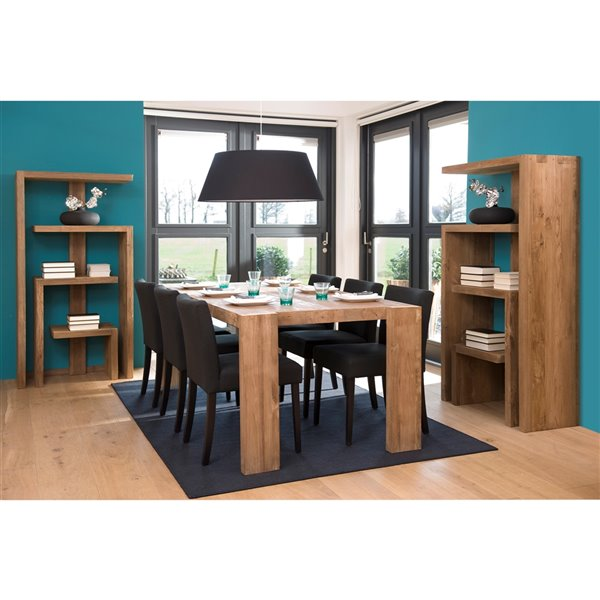 LH Imports D-Bodhi Element Bookcase - 27.56-in - Brown