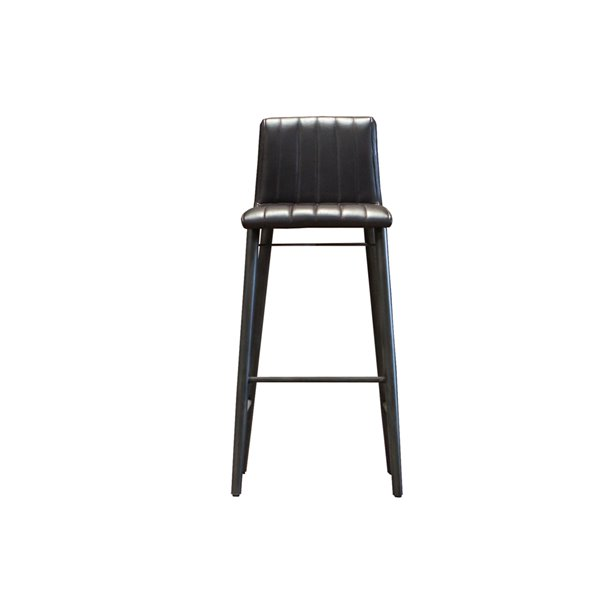 LH Imports Apollo Bar Stool - 29.7-in - Black