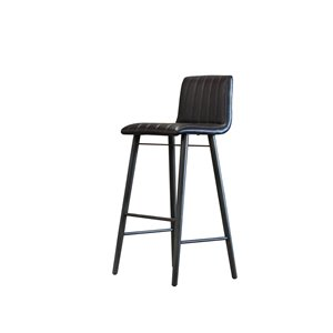 LH Imports Apollo Bar Stool - 29.7-in - Black