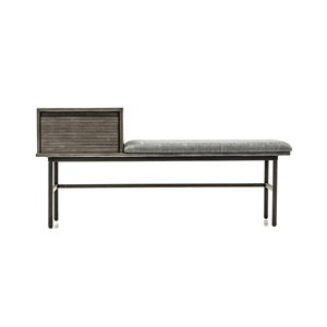 LH Imports Zane Bench - 51.18-in - Taupe