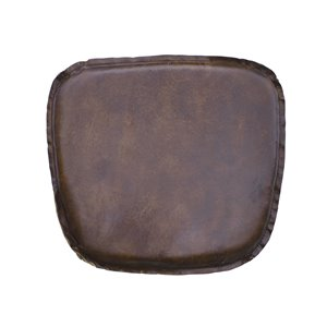 LH Imports Leather Cushion Seat - Vintage Brown