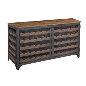 LH Imports Vino Wine Cabinet for 55 Bottles - 49.8-in - Brown