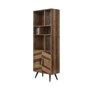 LH Imports Apollo Bookcase - 27.56-in - Brown