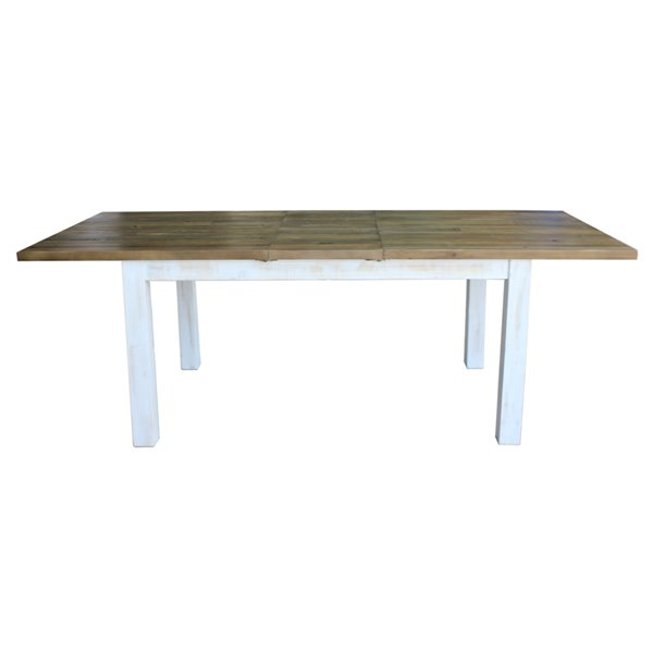 LH Imports Provence Dining Table - 70.8-in x 37.4-in - Antique White