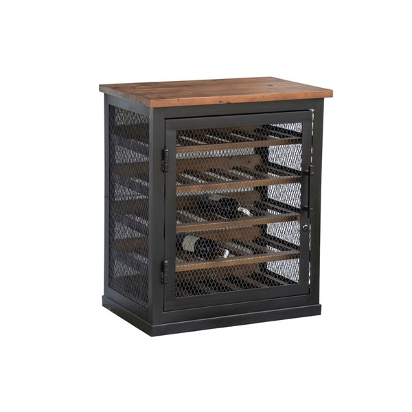 LH Imports Vino Wine Cabinet - 26.57-in - Brown