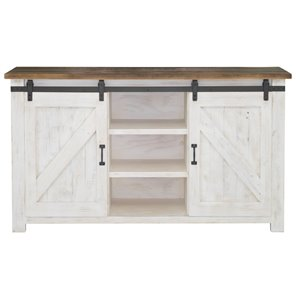 LH Imports Provence Sideboard - 60-in x 35-in - White and Brown