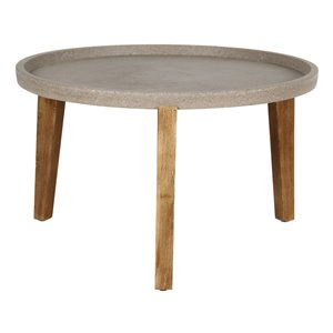 LH Imports Round Patio and Garden Table - Large