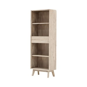 LH Imports Gia Bookcase - 27.6-in - Grey/Brown