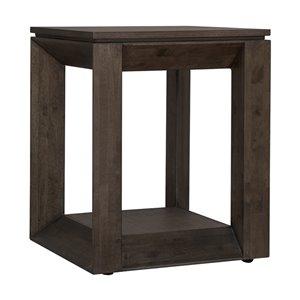 LH Imports Bradley Side Table - 17.72-in - Mocha