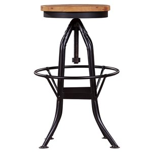 LH Imports Alfresco Stool - 25-in - Light Brown