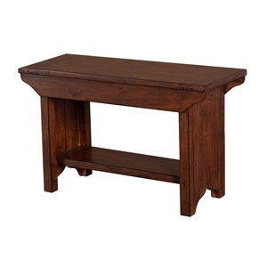 LH Imports PGT Small Bench - 31-in - Brown