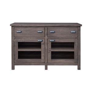 LH Imports Fergus Sideboard - 2-Drawer - 47.2-in x 31.5-in - Brown
