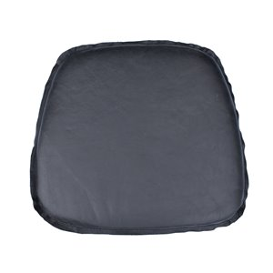 LH Imports Leather Cushion Seat - Antique Black