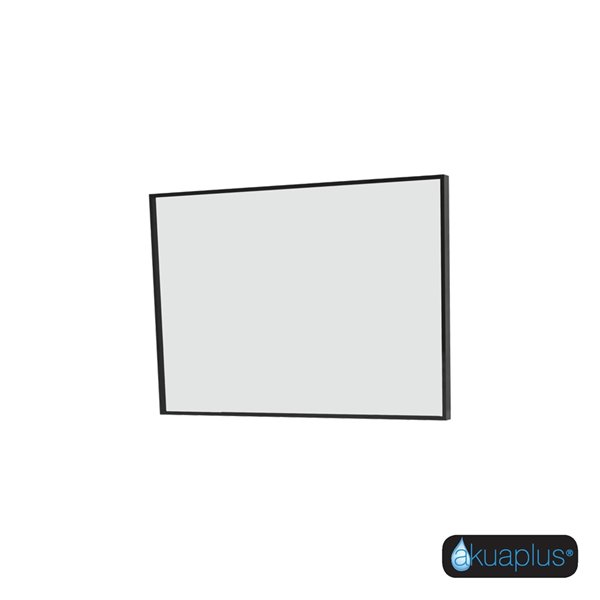 ELLA The akuaplus® Rectangular Mirror with Matte Black Finish