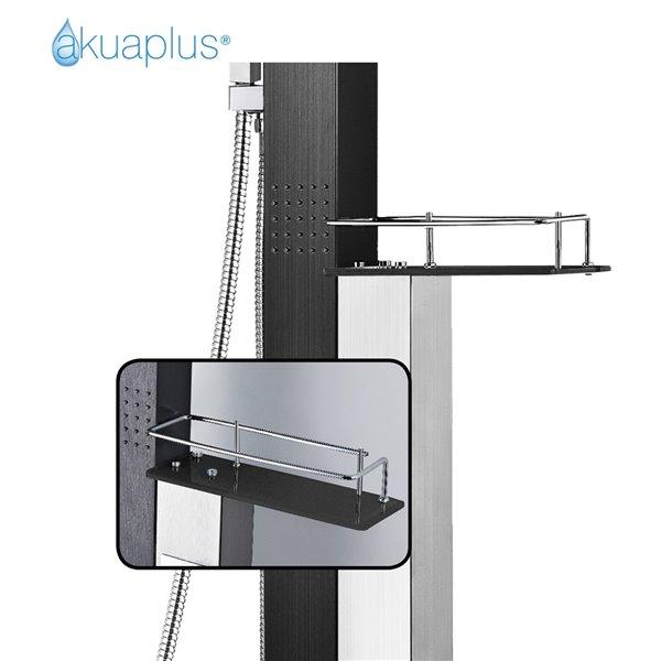 Colonne de douche NOA de Akuaplus®, noir mat et acier inoxydable