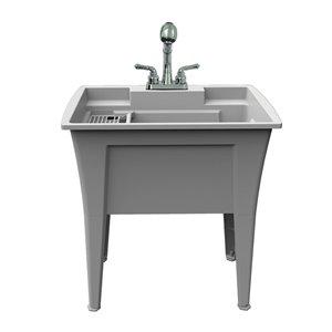 Cuve de lavage tout-en-un Nova RuggedTub avec robinet, blanc, 32 po