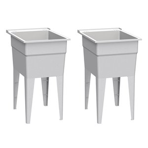 RuggedTub Laundry Sink Narrow Classic - Granit - 18-in - Box of 2