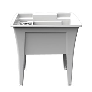RuggedTub Nova Laundry Sink Heavy-Duty - White - 32-in