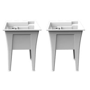 Cuve de lavage Nova RuggedTub, blanc, 24 po, boîte de 2
