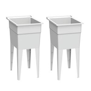 Cuve de lavage classique RuggedTub, blanc, 18 po, boîte de 2