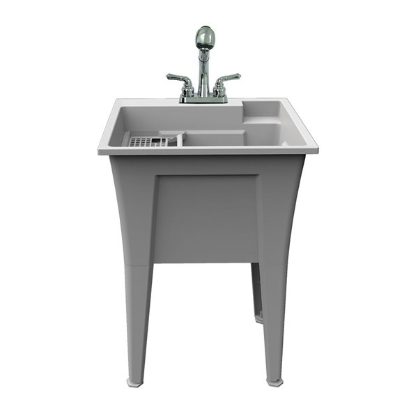 RuggedTub Nova All-in-one Heavy-Duty Laundry Sink with Faucet - Granit - 24-in