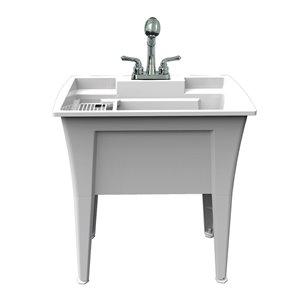 Cuve de lavage tout-en-un Nova RuggedTub avec robinet, granite, 32 po