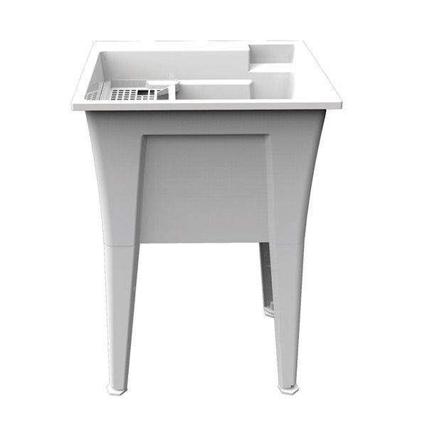 RuggedTub Nova Laundry Sink Heavy-Duty - White - 24-in