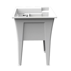 Cuve de lavage Nova RuggedTub, blanc, 24 po
