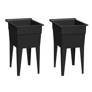RuggedTub Laundry Sink Narrow Classic - Black - 18-in - Box of 2