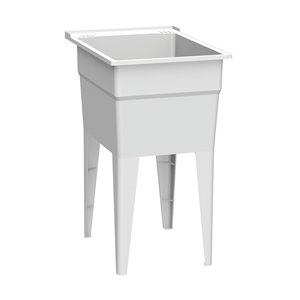 RuggedTub Laundry Sink Narrow Classic - White - 18-in