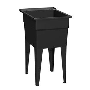 Cuve de lavage classique RuggedTub, noir, 18 po