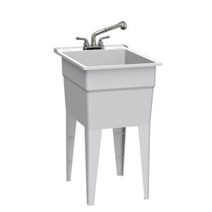 RuggedTub All-in-one Laundry Sink with Faucet Narrow Classic - Granit - 18-in