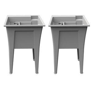 RuggedTub Nova Heavy-Duty Laundry Sink Nova - Granit - 24-in - Box of 2