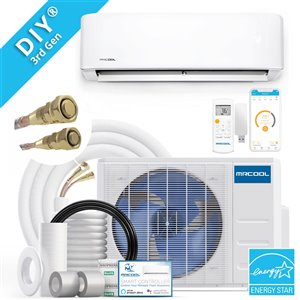 MRCOOL DIY 3rd Gen 18 000 BTU 20 SEER Energy Star Ductless Mini-Split AC and Heat Pump - Wifi Remote Control