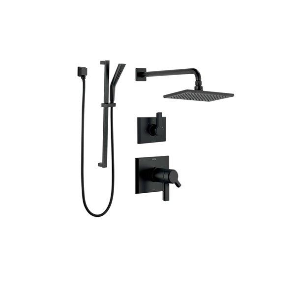 DELTA Pivotal 17T Series Thermostatic Shower System - Matte Black