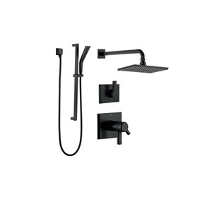 DELTA Pivotal 17T Series Thermostatic Shower System - Matte Black