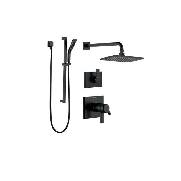 Système de douche thermostatique Pivotal Série 17T de DELTA, noir mat