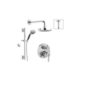 DELTA 14 Series Pressure Balance Round Shower System with Integrated Diverter Valve - Chrome