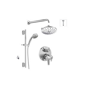 DELTA 17 Series Shower System with Integrated Diverter Valve - Chrome