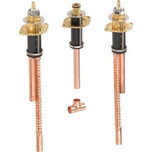 Plomberie et valve flexible pour baignoire romaine de DELTA