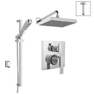 DELTA 14 Series Pressure Balance Shower System with Integrated Diverter Valve - Chrome