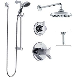 DELTA Compel 17T Series Thermostatic Shower System - Chrome