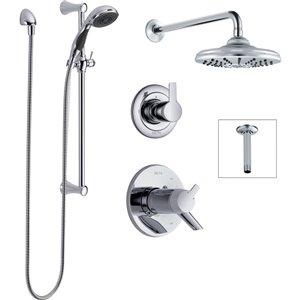 Système de douche thermostatique Compel 17T Series de DELTA, chrome